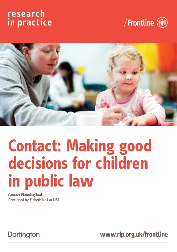 Contact: Making good decisions for children in public law: Chart (2015)
