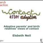 Slide presentation with trainer's notes: Birth parents' and adopters' views about contact