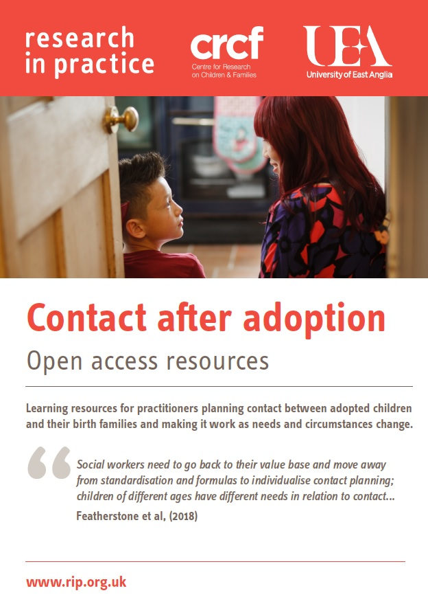 Download the summary flyer for the Contact after Adoption site