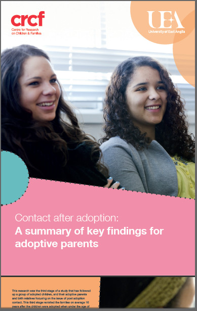 research summary leaflet for adopters